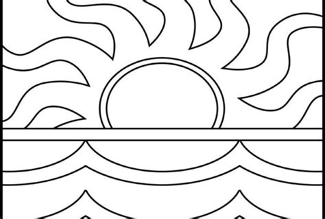 coloring page sunset draw you a beautiful sunset fiverr