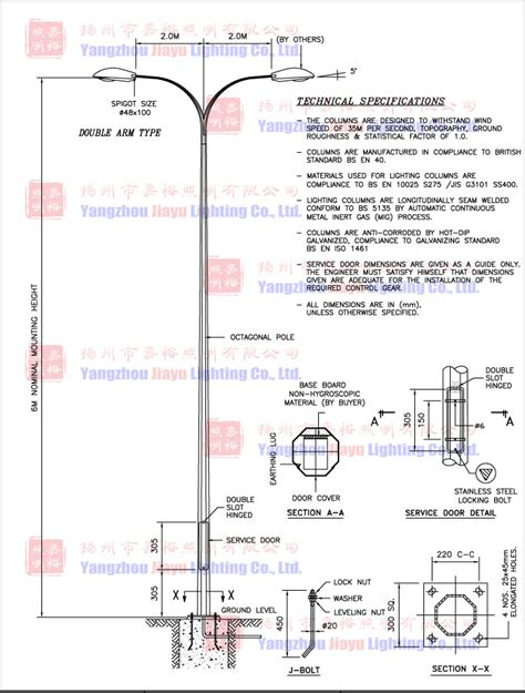 municipal steel l post galvanized lighting pole buy