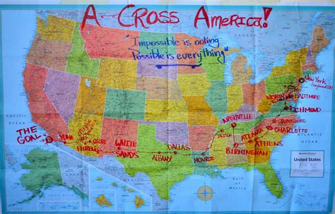 america map photo a cross america map longboarding news and events
