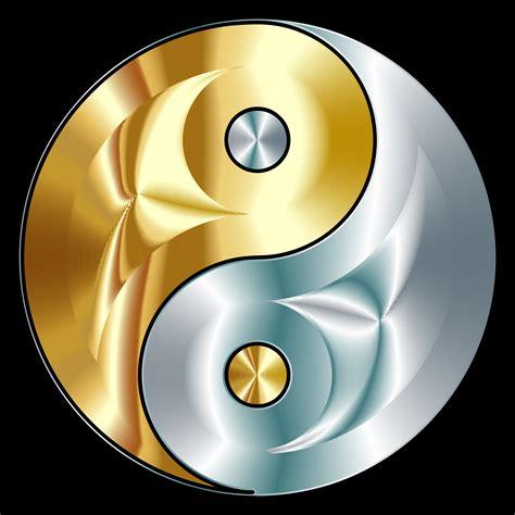 clipart gold and silver yin yang ying yang symbols