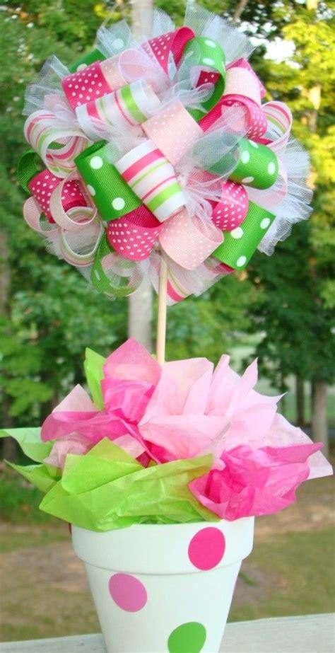 ribbon topiary video tutorial centerpiece picmia