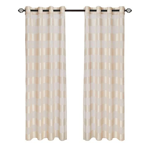 curtains 108 length lavish home sofia grommet curtain panel 108 in length 63 108t096 c the home depot