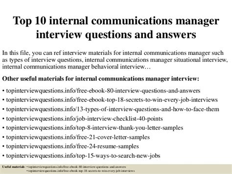 Top 10 Internal Communications Manager Interview Questions