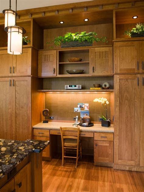 Kitchen Desk Cabinets by Cabinets For Storage And Desk Area Kitchen Ideas