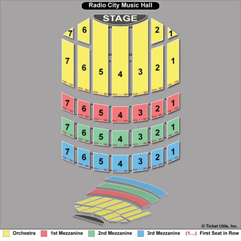 radio city seating map new york city tickets nyc concerts broadway sports
