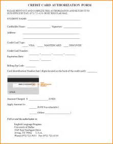 Authorization Letter Use Company Credit Card 7 credit card authorization form pdf authorization letter