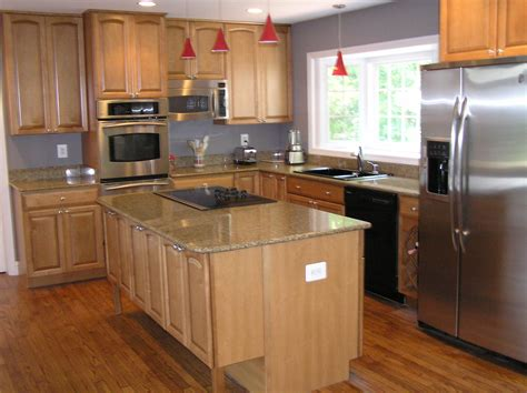 kitchen ideas with brown cabinets l shaped brown wooden kitchen cabinets and island with