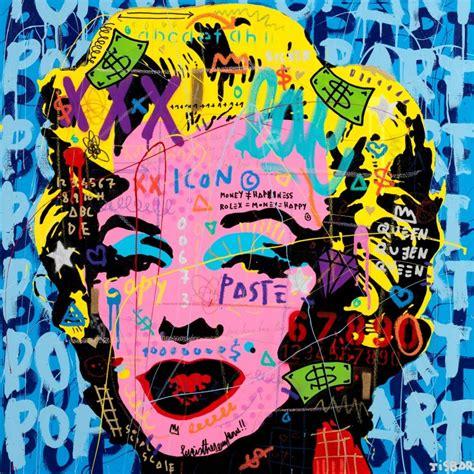 Pop Culture M tableau pop culture m m blue toile edition limit 233 e