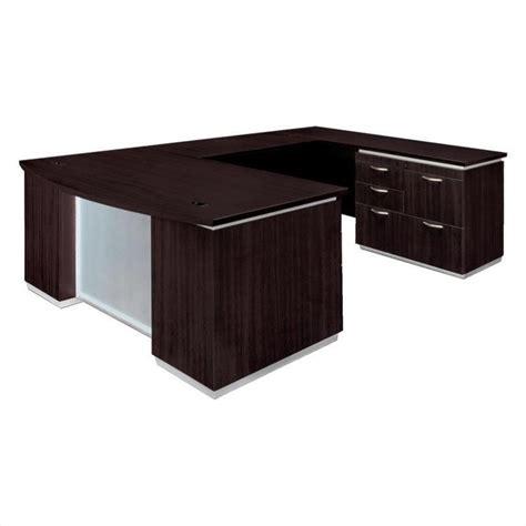 Flat Pack Computer Desk Dmi Pimlico Right U Shape Bow Front Wood Desk Flat Pack 7020 507bfp