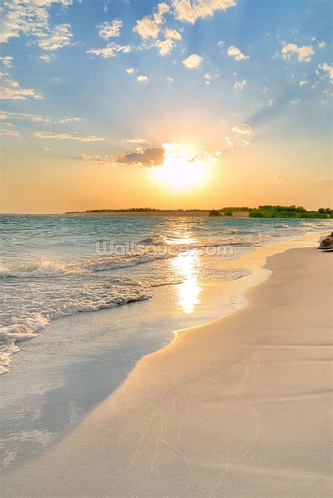 tranquil beach sunset wall mural tranquil beach sunset