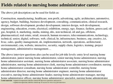 top 10 nursing home administrator questions and