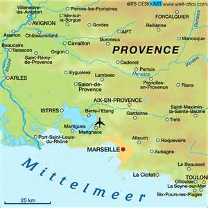 Map Of Provence France by Aix En Provence France