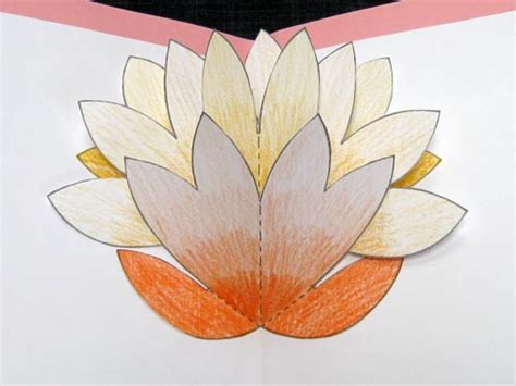 pop up flower template pop up flower card for s day diy family