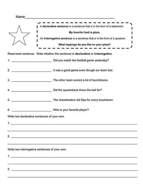 Types Of Sentences Worksheets 3rd Grade by Types Of Sentences Activities 3rd Grade Types Of