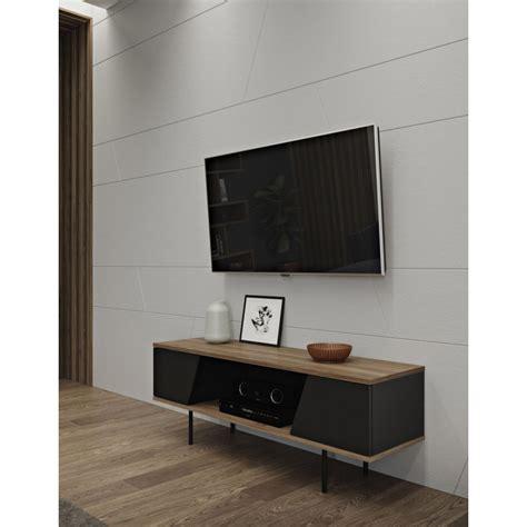 Meuble Tv Design Noir by Temahome Meuble Tv Design Quot Dixie Quot 140cm Noir Noyer