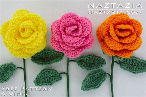 free pattern to crochet a rose crochet flower rose bouquet of roses flowers