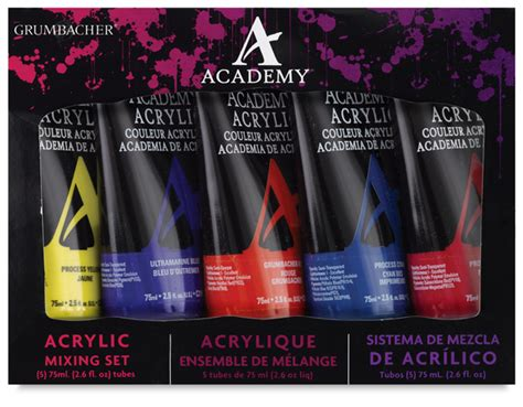 grumbacher academy acrylic sets blick materials