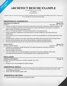Architect Resume Template by Architect Resume Resumecompanion Resume Sles