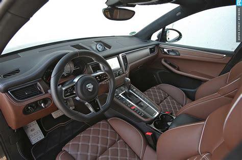 porsche macan white interior techart heats up the 2015 porsche macan turbo automobile