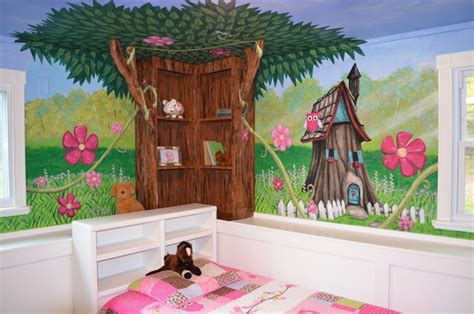 enchanted forest bedroom my houzz an enchanted forest bedroom traditional kids