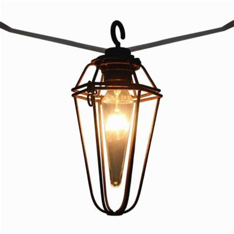 Retro Mercury 8 Light Outdoor Patio Cafe String Light Patio Lights Home Depot