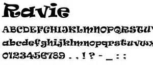 ravie font wesharepics