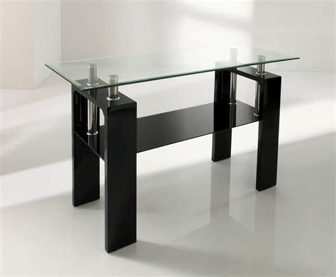 Black Glass Tables Parma Black Glass Console Table
