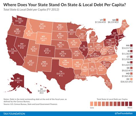 what does map stand for where does your state stand on state local debt per capita tax foundation