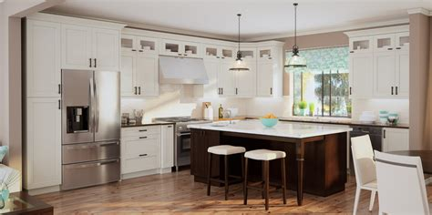 in style kitchen cabinets antique white shaker kitchen cabinets designforlife s