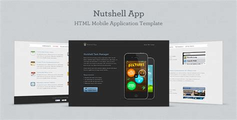 themeforest mobile app themeforest nutshell app html mobile application