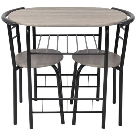 Breakfast Table With 2 Stools by Breakfast Bar Table And 2 Chairs Stools Set Dining Room