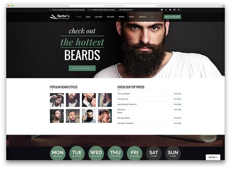 exles of hair websites 15 hair salon and barber shop wordpress themes 2018 colorlib