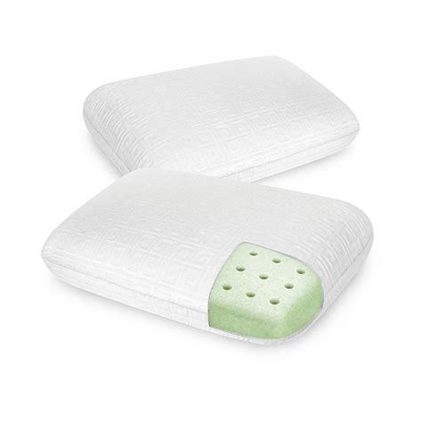 Memory Foam Pillow 2 Pack by Biopedic Key Classic Comfort Memory Foam Pillow 2