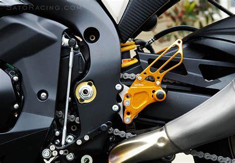 Set Intan Fit L Gd sato racing rear sets suzuki gsx r1000 09 16