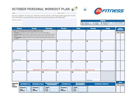 program card fitness template 27 workout schedule templates pdf doc free premium