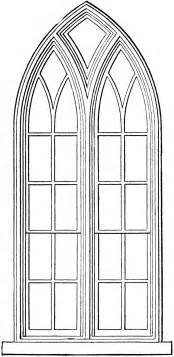 Make Your Christmas Cards - gothic church windows clip art the graphics fairy