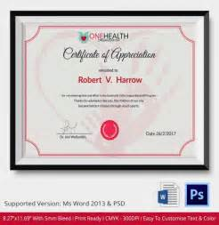 Appreciation Certificate Templates by 24 Certificate Of Appreciation Templates Free Sle