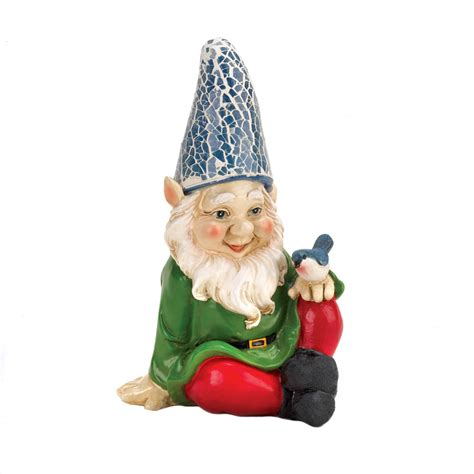 Wholesale Distributors Home Decor Cheery Gnome Solar Garden Statue Wholesale At Eastwind