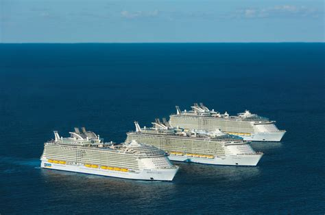 biggest cruise ship in the world the three largest cruise ships in the world take time out