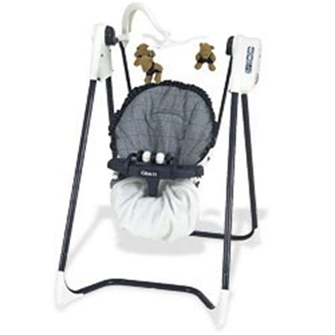 Com Graco 6 Speed Opentop Reclining Swing Navy