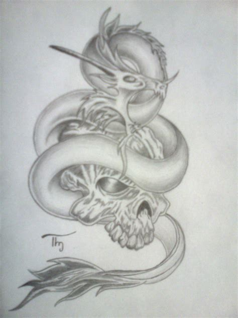 skull dragon tattoo designs skull eye by lechadias on deviantart