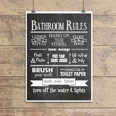 bathroom wall art sayings bathroom rules classic wall quotes gicl 233 e art print