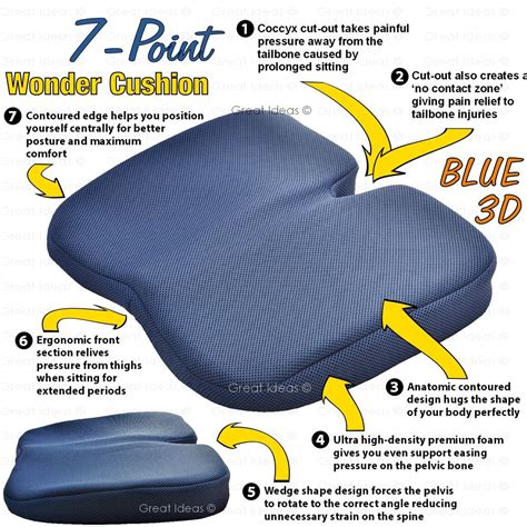 Car Pillow To Sit On by Freedom Seat Wedge Cushion Coccyx Chiro Lumbar Support