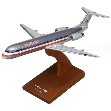 commercial model planes fokker f 100 american model aircraft 1 100 scale