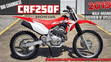 2019 honda trail bikes 2019 honda crf250f review of specs changes walk around