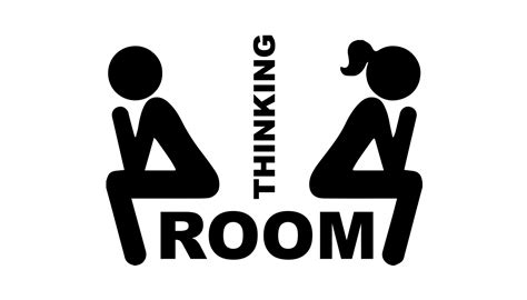 Used Home Decor by Thinking Room Wc Door Decal