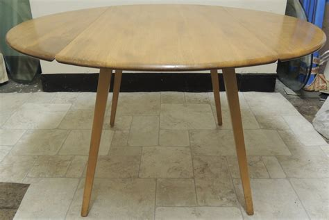 Ercol Drop Leaf Dining Table Antiques Atlas Retro Ercol Blond Drop Leaf Circular Dining Table