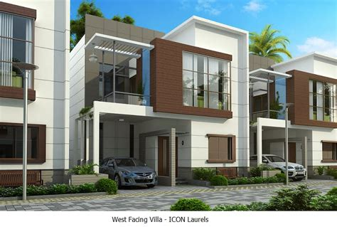 Floor House Plans west facing plan 3 bhk duplex villas