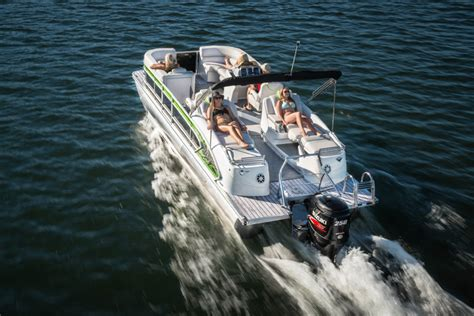 fastest pontoon boat 5 rocket fast pontoon boats boats