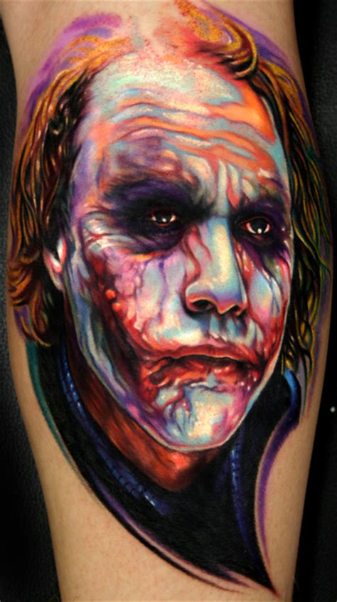 paul acker tattoo heath ledger joker from by paul acker